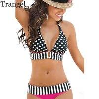 Trangel Brand Bikinis Women 2017 Swimsuit Micro Bikini Set Bathing Suits With Halter Strap Swimwear Brazilian