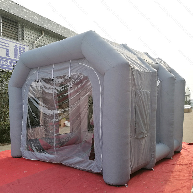 все цены на 2018 Newly 4X4X3 M inflatable mini spray paint booth tent portable small work station car painting room toy tent for sale онлайн