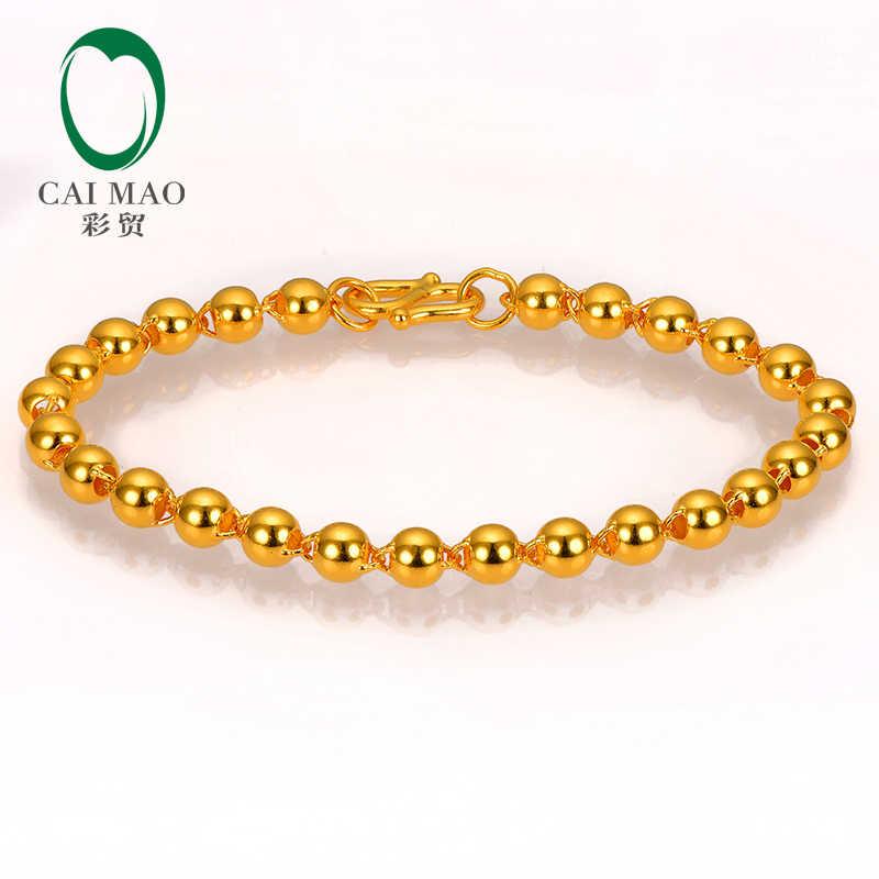 0aae50113 CAIMAO 24K Pure 999 Gold Bracelet Genuine Balls Design Boutique Fine  Wedding Engagement Gift Trendy Classic