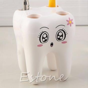 Милый милый держатель зубной щетки с 4 отверстиями, дизайн зубной щетки в мультяшном стиле для детской ванной комнаты