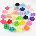 2016 Wholesale cute style baby flower clips baby hair accessories 23 colors baby girl headband DIY flower