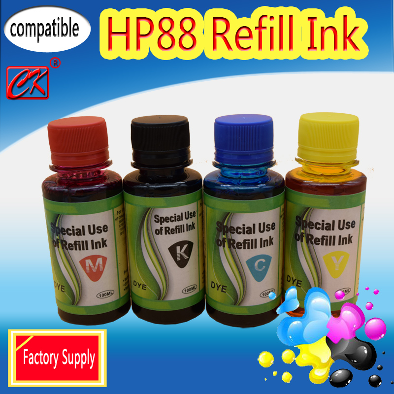 Factory Suppy Compatible Refill HP88 FOR HP Officejet PRO K550 K8600,FOR HP Officejet PRO L7780