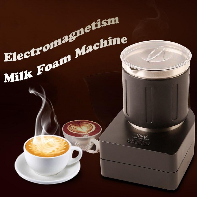 Electric coffee milk Foam machine automatic milk mixer/ milk foam Maker Small Household Milk Foam Machine commercial automatic ice maker household electric bullet round ice making machine 15kg 24h family small bar coffee teamilk shop
