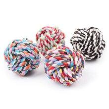Perro mascota pelota de juguete para morder la resistencia de bolas de algodón multicolor cuerda perros Accesorios