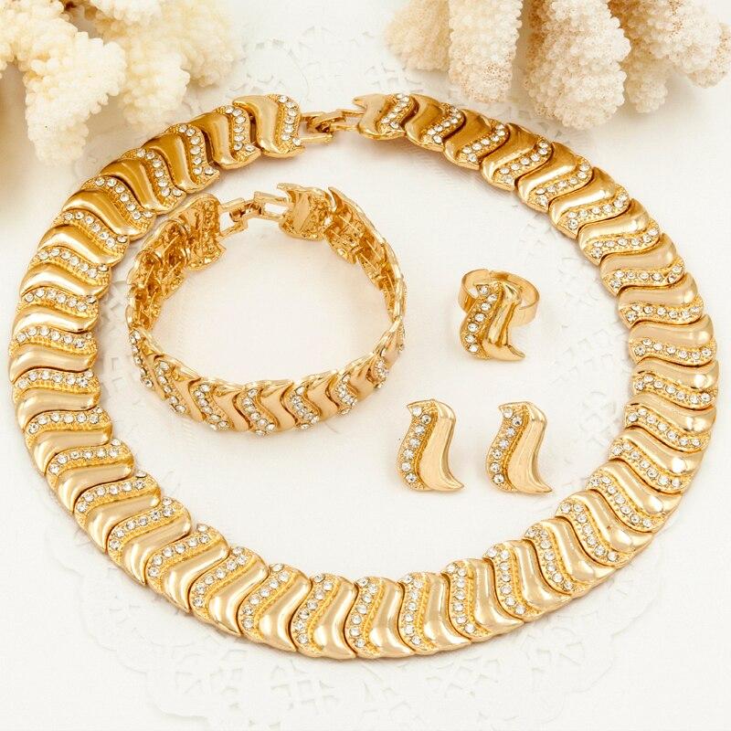 Liffly Charm Svatební dárek Dubaj šperky sady pro ženy svatební náhrdelník náušnice módní africké korálky šperky Set