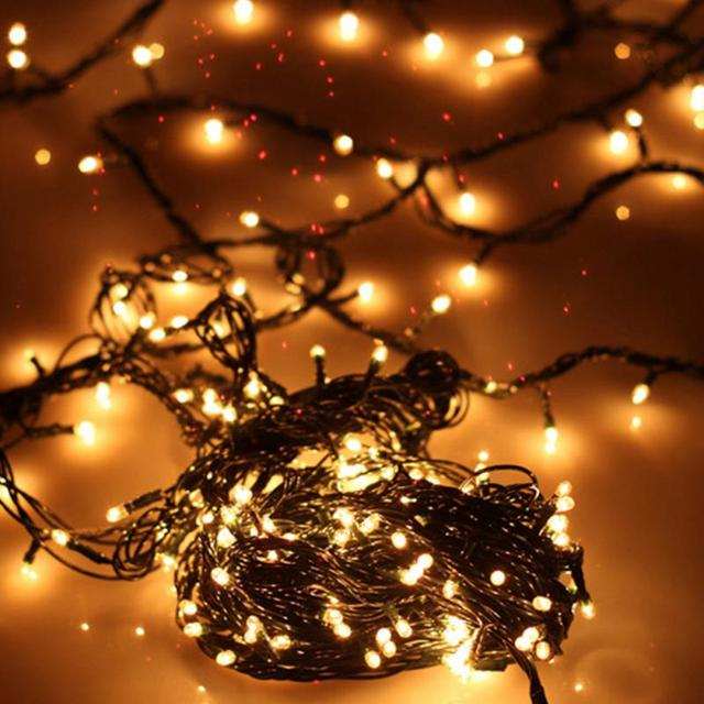 hot sale hotels malls decor led lights christmas lights 45m 100pcs led lights string warm