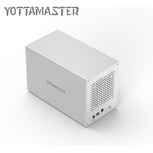 Yottamaster HDD 3.5 Case 5 bay Docking Station Aluminum Type-C to SATA HDD Enclosure Box Support RAID 50 TB for Laptop PC