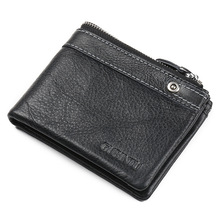 Men's Genuine Leather Zipper Business Wallet Fashion Brand C