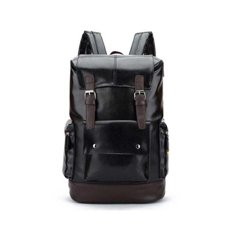 FGGS Fashion men Backpacks Quality Pu Leather School Backpacks for Teenage Boy Preppy Style Shoulder Bag Daypack for menFGGS Fashion men Backpacks Quality Pu Leather School Backpacks for Teenage Boy Preppy Style Shoulder Bag Daypack for men