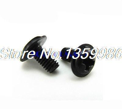 2000Pcs Black <font><b>M3x5mm</b></font> Philliip Washer Head Screw PC Motherboard Screws Bolts image