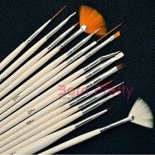 15pc Nail Art Design Brush Set Dotting Brush Liner Dot Tools Drawing Painting Pen Polish Brushes Kit #439