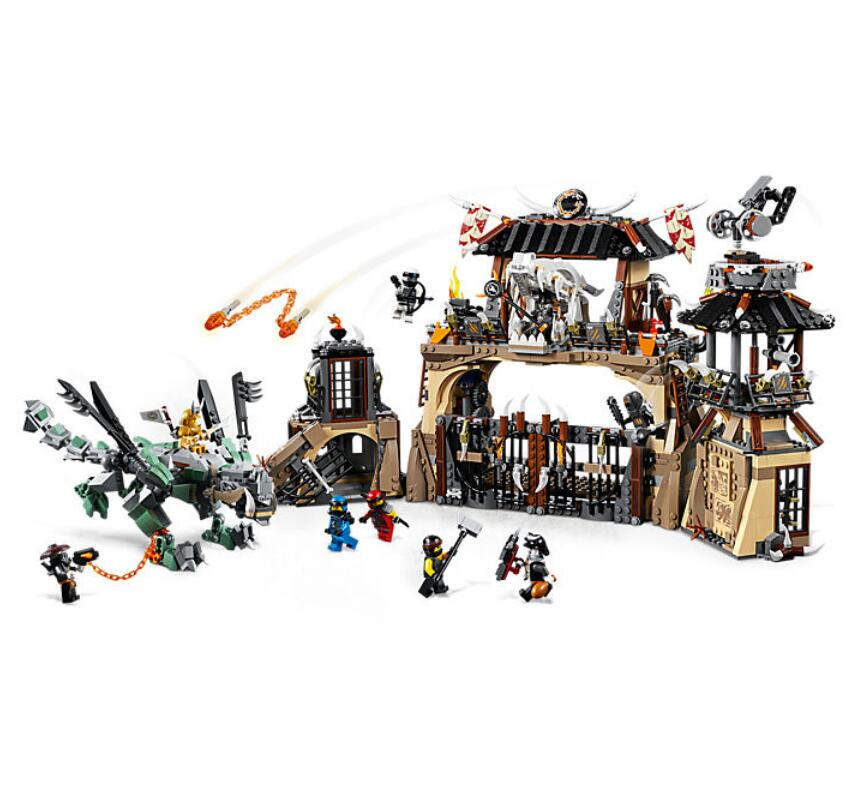 Bela 10940 Ninja Series Dragon Pit Dragon Master/Jay/Zane Building Block Bricks Toys Compatible With Legoings Ninjagoes 70655