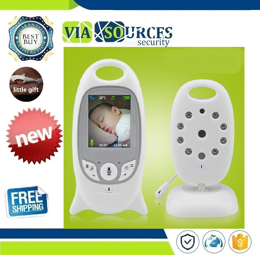 Wireless Video Baby Monitor 2.0 inch Color  Security Camera 2 Way Talk NightVision IR LED Temperature Monitoring with 8 LullabyWireless Video Baby Monitor 2.0 inch Color  Security Camera 2 Way Talk NightVision IR LED Temperature Monitoring with 8 Lullaby