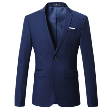 2019 fashion new men's casual business suit / Men's one single Buttoned Blazer jacket coat / 10 color M-6XL Men's Suit Jackets