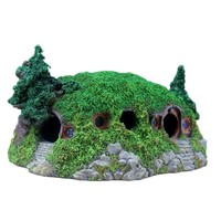 New Arrive Aquarium Artificial Hobbit House Creative Aquarium Rockery Landscaping Castle Decorations Home Decorations
