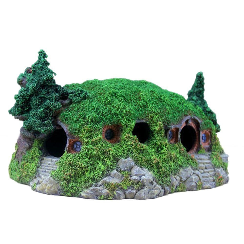 Nouvelle arrivée Aquarium artificiel Hobbit maison créative Aquarium Rockery aménagement paysager château décorations décorations pour la maison
