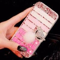 Di lusso Delle Donne Della Signora Girl 3D Del Diamante Del Rhinestone + Cuoio di Vibrazione Del Raccoglitore Caso Della Copertura Del Telefono Per Nokia Lumia 3/5/6/640XL/1320/950XL/850/650