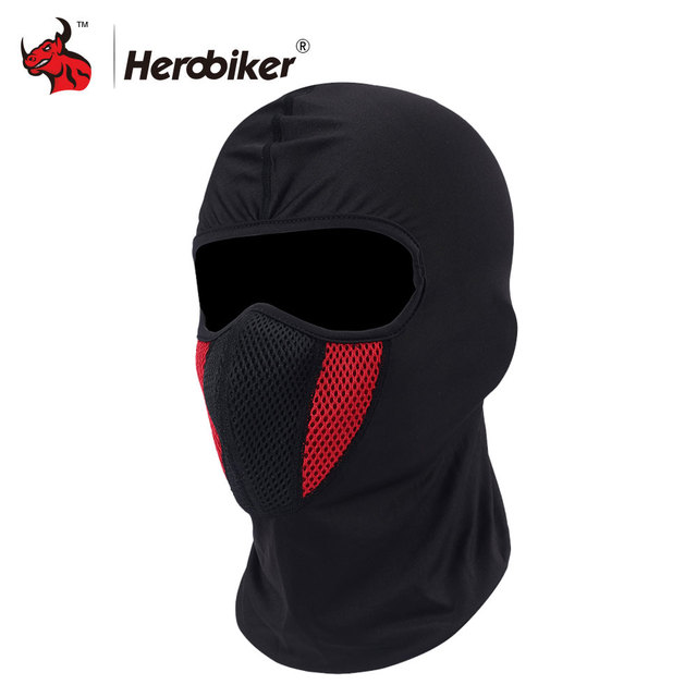HEROBIKER Balaclava Moto Face Mask Motorcycle Face Shield Airsoft Paintball Cycling Bike Ski Army Helmet Full Face Mask