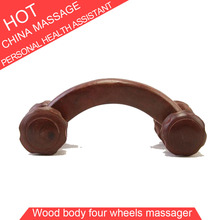 Rosewood & Fragrant Wood Four Wheels Massage Relax Abdominal Back Body Healthcare Massager