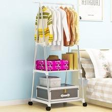 Треугольники пальто стойки из нержавеющей стали нетканых материалов простой сборки могут быть удалены Спальня двигаться вешалка для одежды шкаф