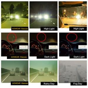 Image 4 - MOONCCI Square Night Vision Sunglasses Men Polarized HD Night Driving Goggles Glasses Women Yellow Driver Eyewear Unisex Oculos