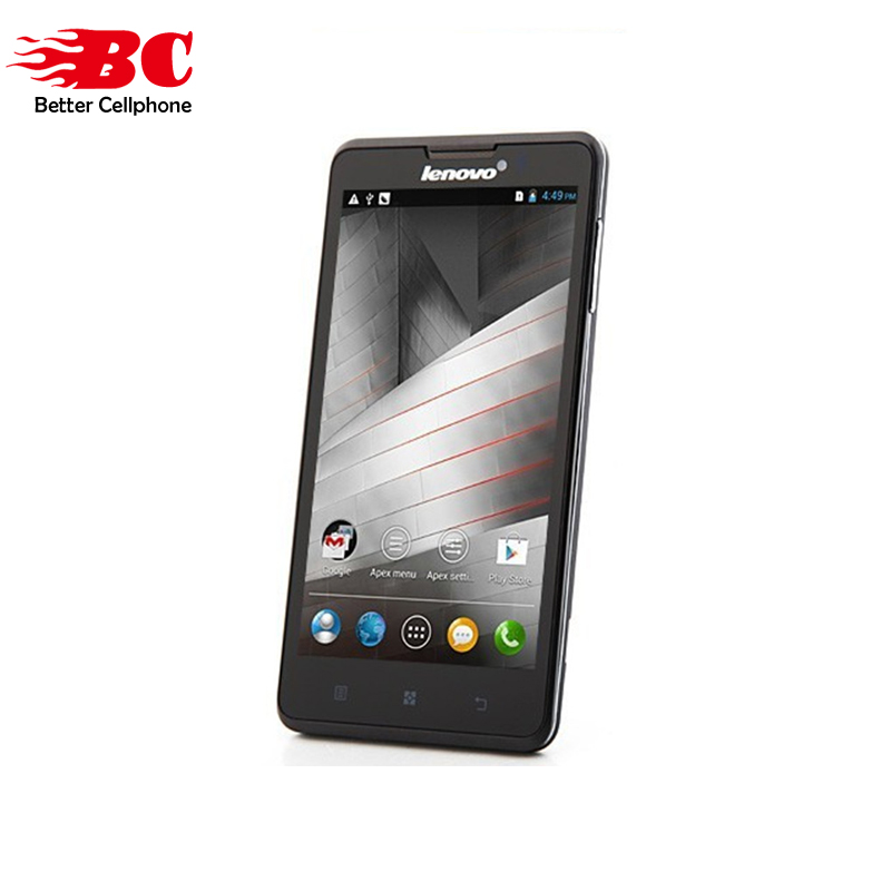 Original Unlock Lenovo P780 MTK6589 Quad Core 1.2GHz Android 4.4 1GB RAM 4GB ROM 5.0''HD1280x720 8MP 4000mAh WCDMA Cellphone