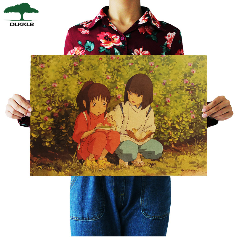 50.5*35cm Lady holding beer retro kraft paper Painting Poster size