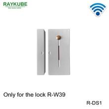 RAYKUBE R DS1 kablosuz kapı sensörü ile çıkış düğmesi kilitli kilidini ile çalışmak akıllı kilit R W39