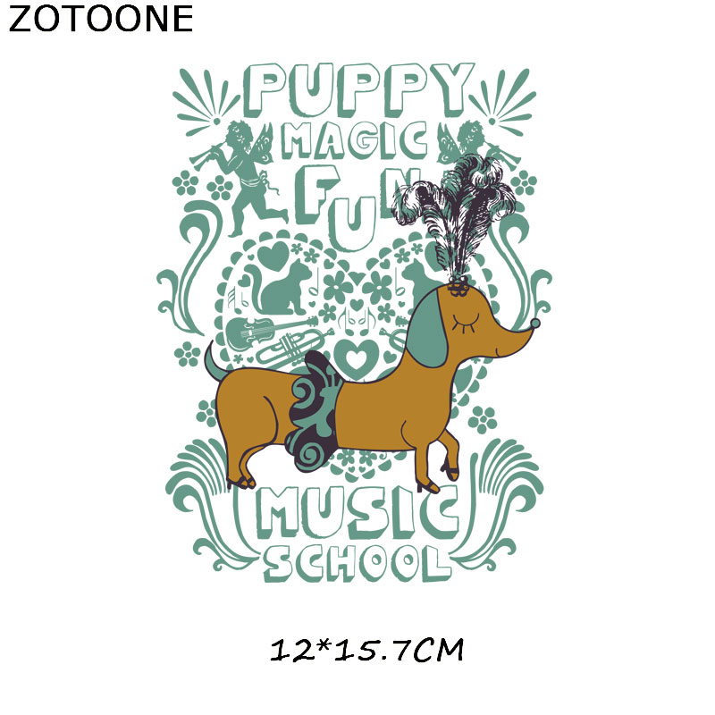 ZOTOONE Iron on Transfer Patches for Clothing Cute Animal Cat Dog Rainbow Unicorn Patches DIY Kids Gift Beaded Applique Clothes in Patches from Home Garden