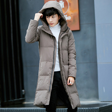 2017 New Arrival Winter Fashion Casual Mid-length Solid Color Hooded Thicken Keep Warm Parkas Outerwear Coat
