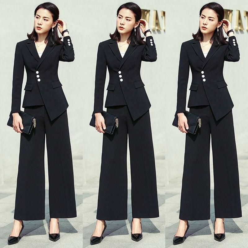 Féminin Blanc Robe noir Pantalon Revers D'affaires Costumes Smokings Pour Femmes Veste Dames De Costume Cran Bureau Mince Blanc w1xXCdfq
