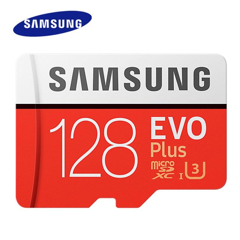 Carte mémoire SAMSUNG 512 go 256 go 128 go 64 go 32 go EVO Plus carte MicroSD U3 Microsd TF 95 mo/s-100MB/s U3 4K HD pour Smartphone
