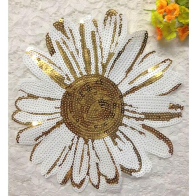 DoreenBeads Sunflower Anlage Muster Pailletten Patch Nähen Auf ...