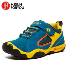 2019 Genuine Leather Children Shoes Size 28-40 Waterproof Kids Sneakers Breathable Girls and Boys Sports Shoes Outdoor Trainers