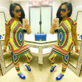 African Dresses For Women Women Clothing Top Fashion Spandex Dashiki The New 2016 Tribal Ethnic Totem Printed Skirt Suits Club