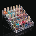 6 layer nail polish display shelf acrylic transparent nail salon exhibition of cosmetic organizadores display shelf Jewelry box