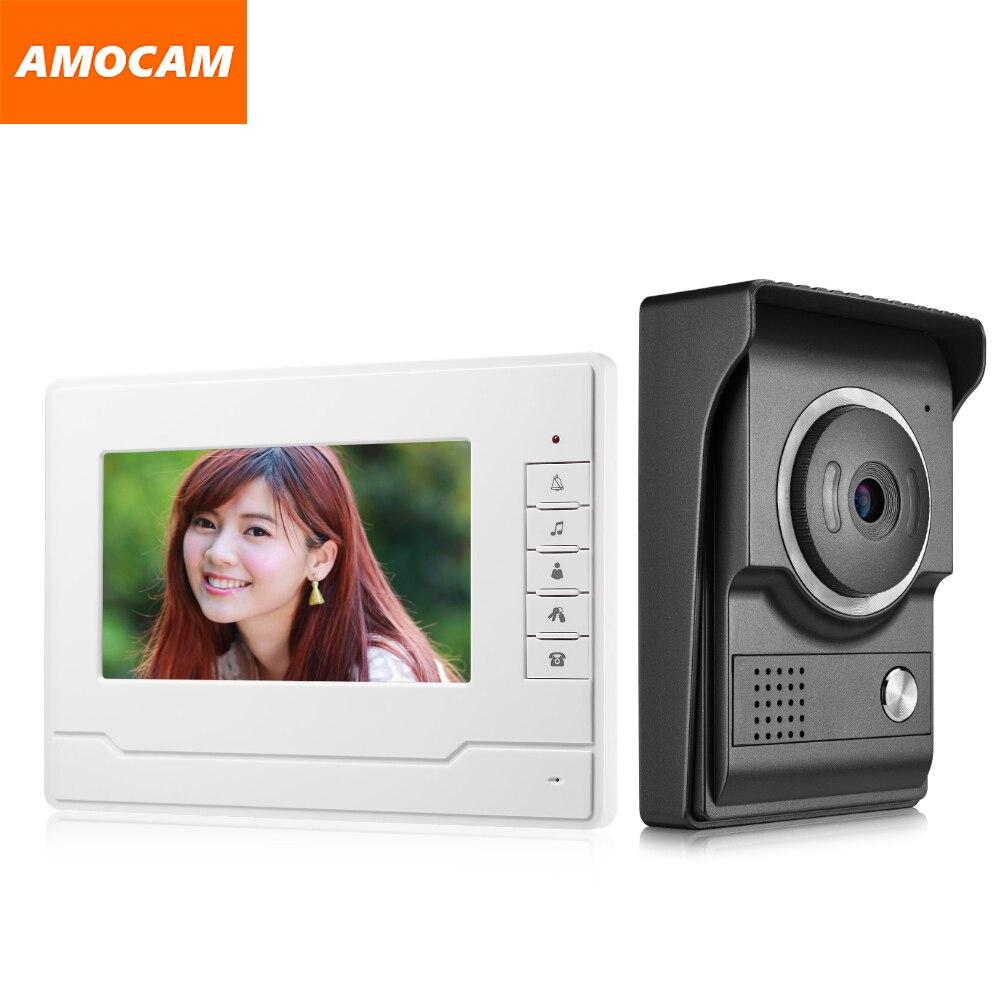7 Inch Monitor Video Intercom Door Phone Doorbell System Video Interphone System For Home Villa 1-IR Camera 1- LCD Screen