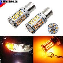 Lâmpadas de substituição led para bmw, alta potência 21w âmbar bau15s 7507 py21w canbus f22 f30 f32 2 3 4 sinal de seta dianteiro da série luzes