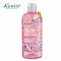 Kustie 380ml Natural Skin Care Moisturizing Cherry Blossom Aromatic Body Whitening Shower Bath Gel Cream