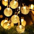 20/30/50 LED boule de cristal LED lampe solaire lumière du soleil pour décor de jardin lumières de noël LED guirlande solaire étanche lumières extérieures