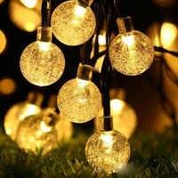 20/30/50 Led Della Sfera di Cristallo Ha Condotto La Lampada Solare Luce Solare per Il Giardino Decorazione Luci di Natale Solare Del Led Ghirlanda impermeabile Luci Esterne