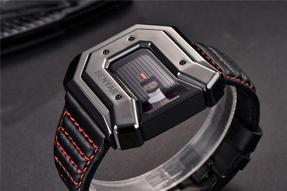 Topdudes.com - Original BENYAR Waterproof Leather Quartz Sports Watches