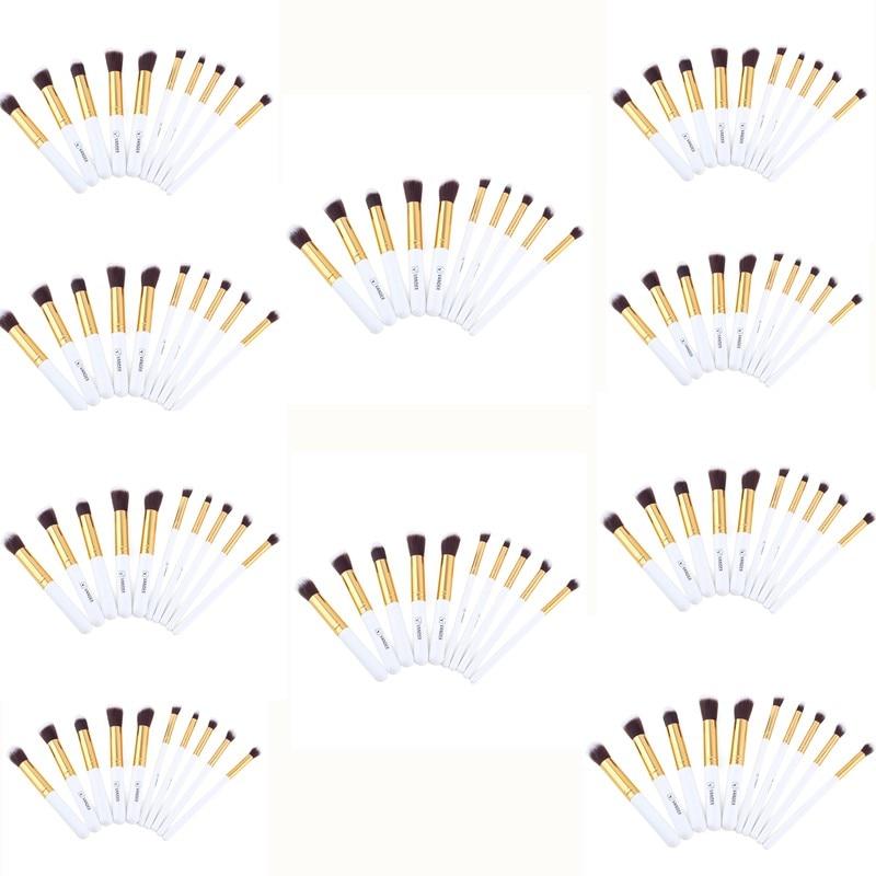 Vander 10sets/Lot 10Pcs Professional Makeup Brushes Cosmetic Contour Blending Foundation/powder/concealer/eyeliner Makeup Tools vander 10sets lot 32pcs wholesale makeup