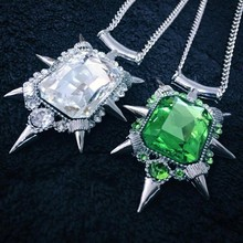 2015 fashion HOT  jewelry-Nice Once upon a time wicked witch Zelena glinda glass pendant Necklace great Keepsake gift for fans