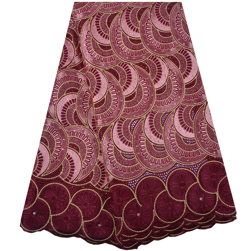 Latest Nigerian Lace fabrics African Cotton Lace Fabric High Quality Swiss Voile Lace In Switzerland For