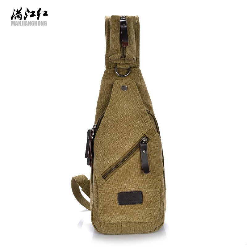Canvas Chest Bags  Canvas Crossbody Bag Messanger Canvas Bags Small Travel Chest Bag Shoulder Men