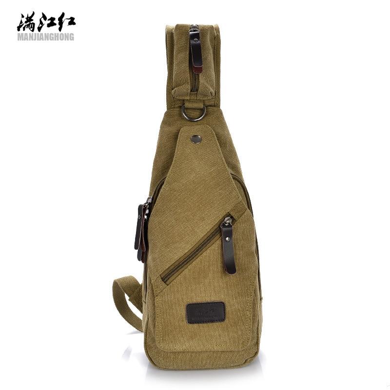 Canvas Chest Bags  Canvas Crossbody Bag Messanger Canvas Bags Small Travel Chest Bag Shoulder Men
