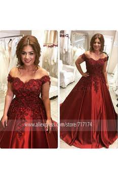 Off-the-Shoulder Purple Long Lace Prom Dresses Ball Gown 3D Lace Flowers Satin Evening Gowns vestido de festa longo
