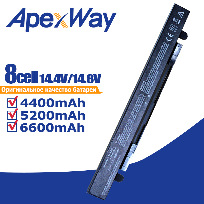 Apexway 4400mAh célula de Bateria para Asus A41-X550 8 P450 P550 R409 R510 K450 x550a K550 X450 X550V A41-X550A A450 a550 F550 F552