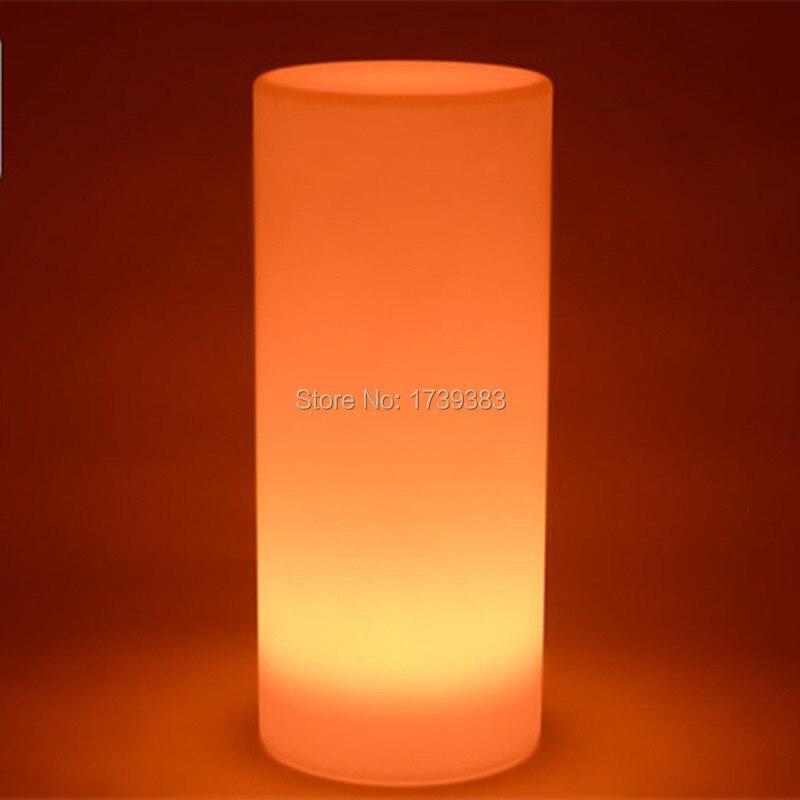 №4 pcs lote magnifique H15cm LED tour pilier petit cylindre